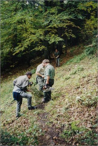 Jagdschüler bei der Revierarbeit